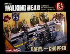 THE WALKING DEAD Building Set - Daryl Dixon + Chopper - McFarlane Toys