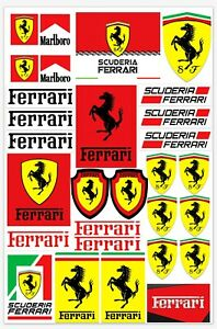 Set-27-Vinile-Adesivi-Ferrari-Scuderia-Italia-Vinyl-Sticker-Auto-Moto-Casco-Bici