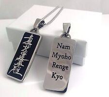 Nichiren Buddhist Daimoku Pendant - nam myoho renge kyo- SGI - Black