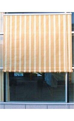 DEL RE Tenda da sole con rullo Avvolgibile esterno Beige a righe cm 240x300 G