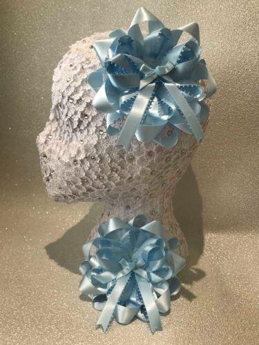 Handmade Baby Blue MARIAGE COEUR GRAND FLEURI Harajuku Romany HAIR BOWS