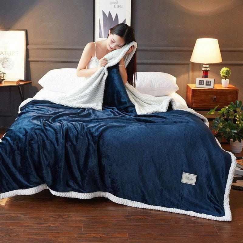 Weighted Blanket King Bed Double-layer Soft Full Queen Solid Bed Cover Warm Hot