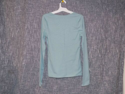 Wild Fable Women/'s M Long Sleeve Shirt Teal Blush 331 00 2723 Target Brands