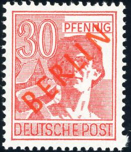 BERLIN-1949-MiNr-28-II-tadellos-postfrisch-Befund-Schlegel-Mi-350