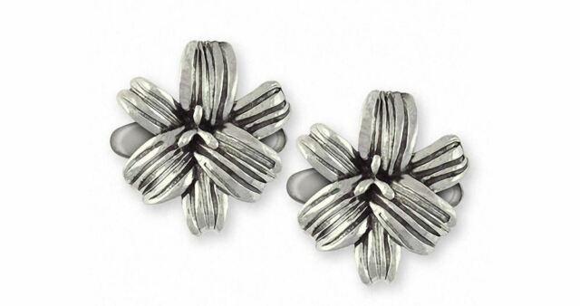 Calla Lily White Flower Sterling Silver Cufflinks