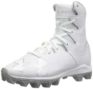 750e24f73 Image is loading UNDER-ARMOUR-HIGHLIGHT-RM-lacrosse-cleats-white-edition-