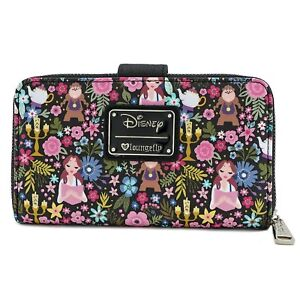 Loungefly-Disney-Beauty-and-the-Beast-Belle-Floral-Faux-Leather-Wallet-WDWA0704