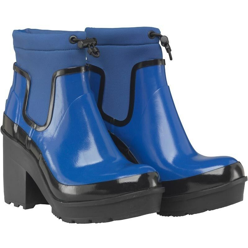 Hunter Damenschuhe Original Drawstring Block 4 Heel Stiefel, Cobalt, UK 4 Block EU 37 US 6,BNIB 7403e6