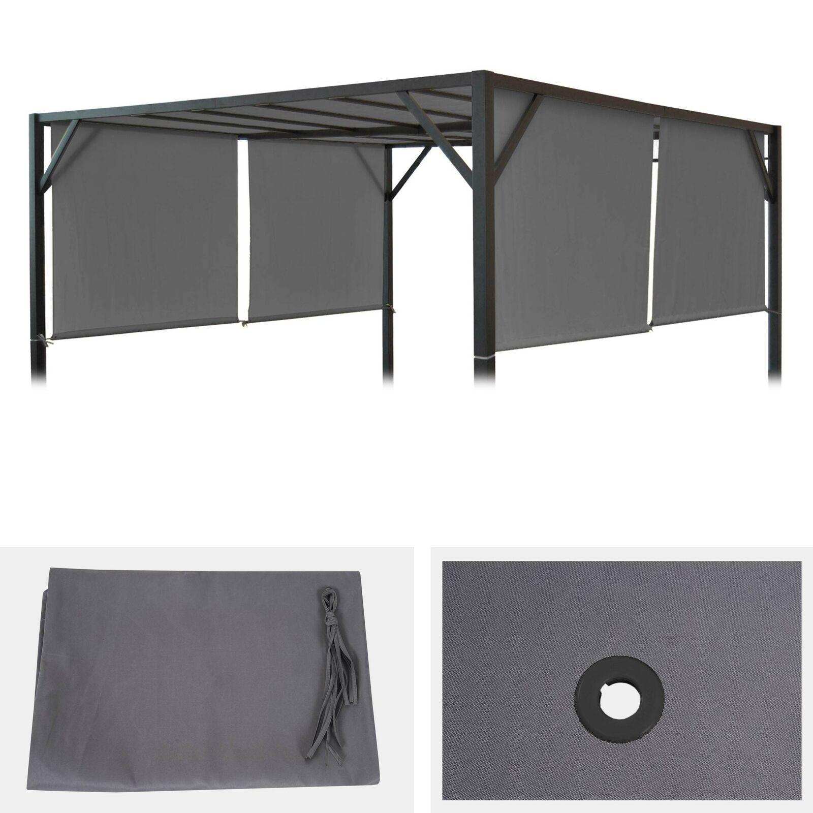 Funda de Repuesto para Techo Pérgola, Pabellón, Beja 4x4m, gris