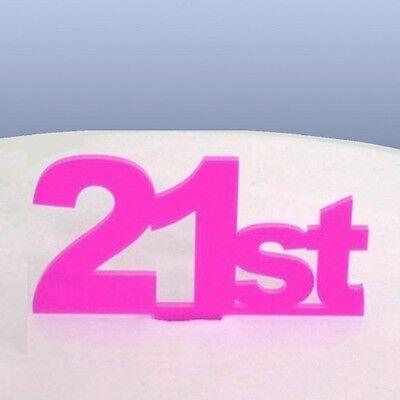 Costante Ventunesimo Compleanno Cake Topper-rosa-mostra Il Titolo Originale Aiutare A Digerire Cibi Grassi