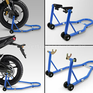 BITUXX® Motorradständer hinten & vorn Motorrad Transport Montageständer Blau