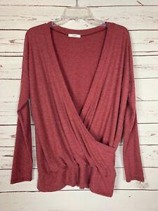 Boutique-Cherish-Women-039-s-S-Small-Cute-Soft-Fall-Winter-Faux-Wrap-Sweater-Top