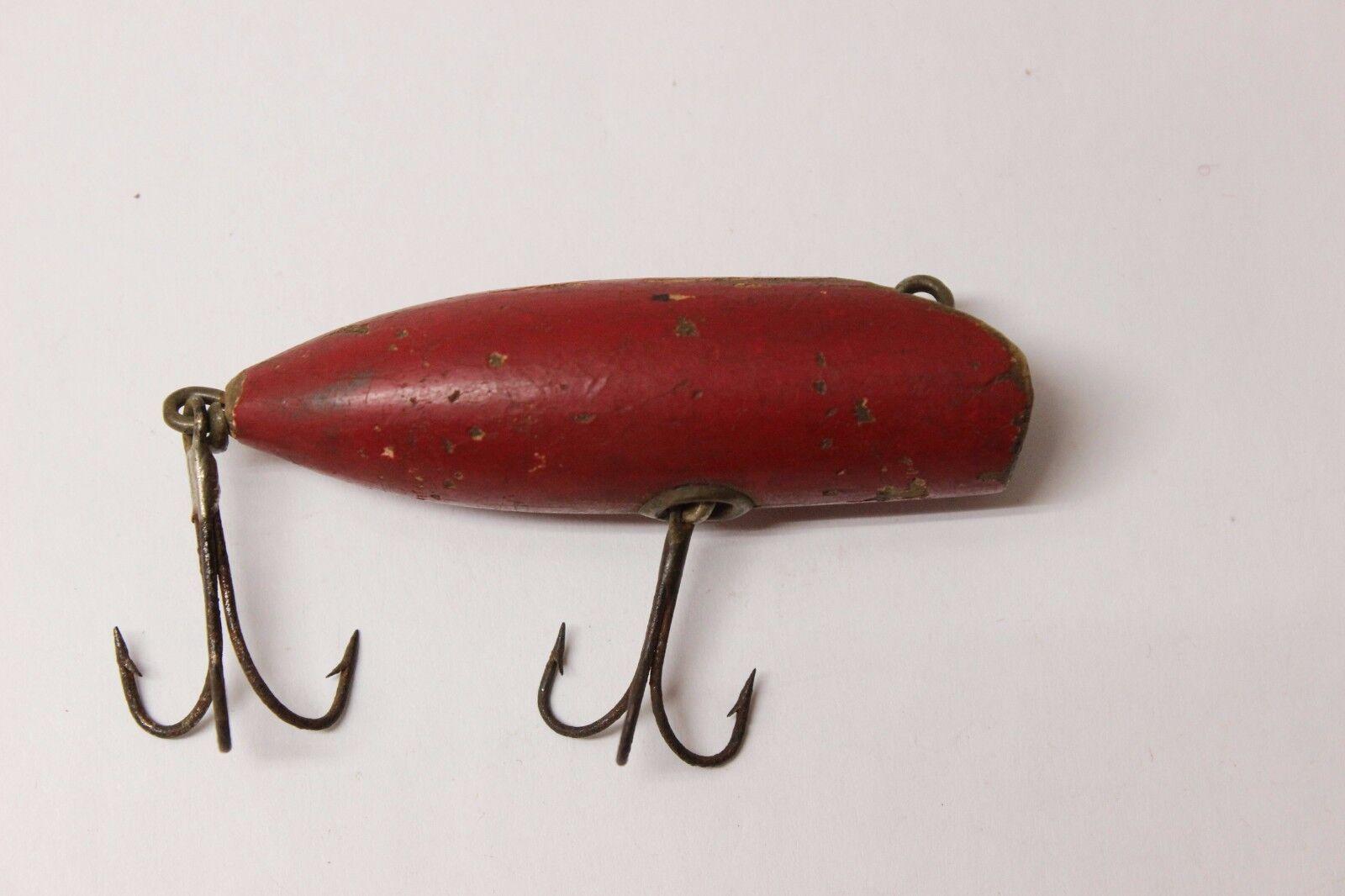 South Bend Antique 2 3 4  Red Bass-O-Reno Circa 1915-1920 Fishing Lure