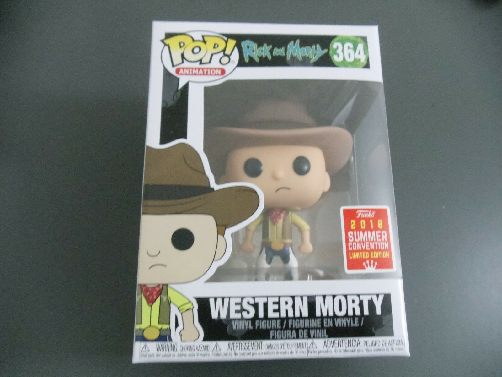 FUNKO POP RICK AND MORTY - MORTY WESTERN WESTERN WESTERN SDCC 2018 EXCLUSIVE 1d784e