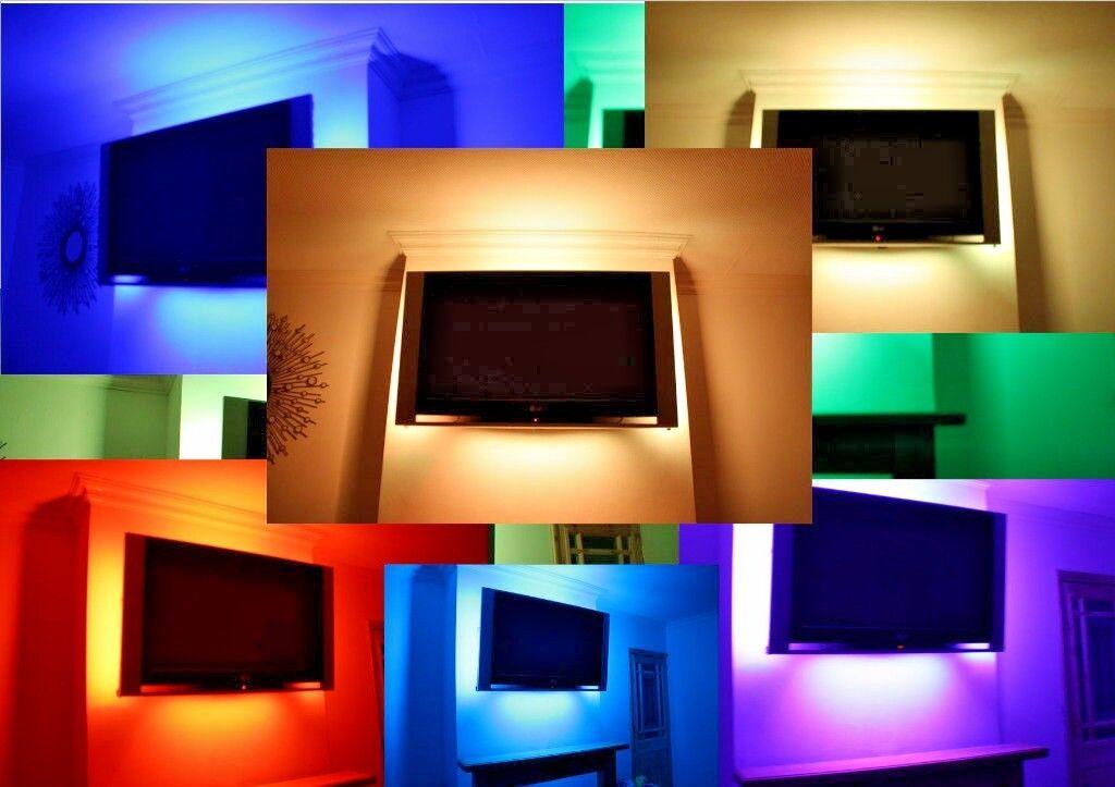 LED iluminación ambiental tubos Calidad Tv Retroiluminación con capacidad de respuesta Sonido Cambio de Color