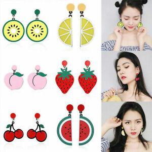 New-3D-Lemon-Cherry-Fruit-Dangle-Acrylic-Ear-Stud-Earrings-Women-Fashion-Jewelry