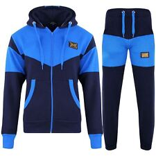 eb0a050e Boys Girls Tracksuit Kids Deluxe Edition Badged Hoodie Bottom Jogging Suit  7-13Y