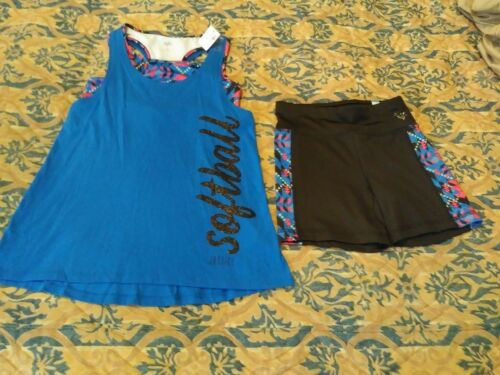 JUSTICE GIRLS SOFTBALL OUTFIT SIZE 8-SCOORER OUTFIT SIZE 12 sold separately