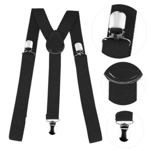 Mens Womens Y-Style Elastic Trouser Braces with Clips