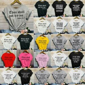 Women-Fashion-Casual-O-Neck-Letter-Print-Short-Sleeve-T-Shirt-Top-Blouses