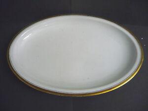 Platte-Servierplatte-oval-Goldrand-Hutschenreuther-Porzellan