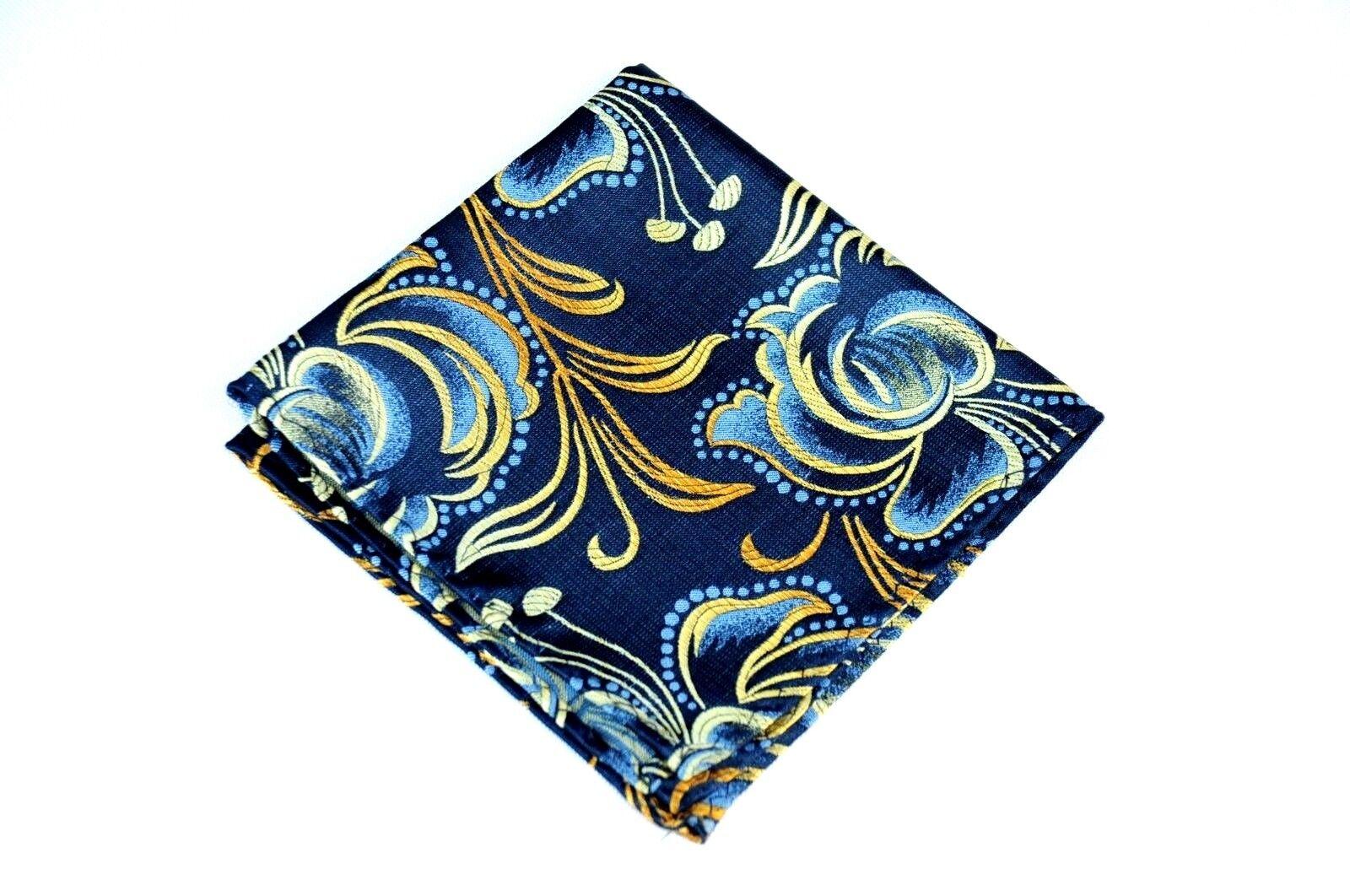 Lord R Colton Masterworks Pocket Square Bergamo Alta Yellow Tapestry $75 New