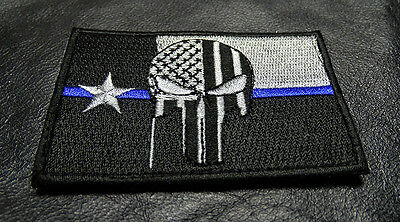 2PC CHICAGO ILLINOIS FLAG POLICE TACTICAL SWAT POLICE BLUE LINE HOOK LOOP PATCH