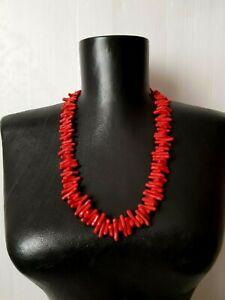 Vintage-Necklace-Art-Deco-Coral-Imitation-1940s-1950s