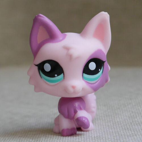 Pink purple Wolf Dog #2100  LPS mini Action Figure Littlest pet shop