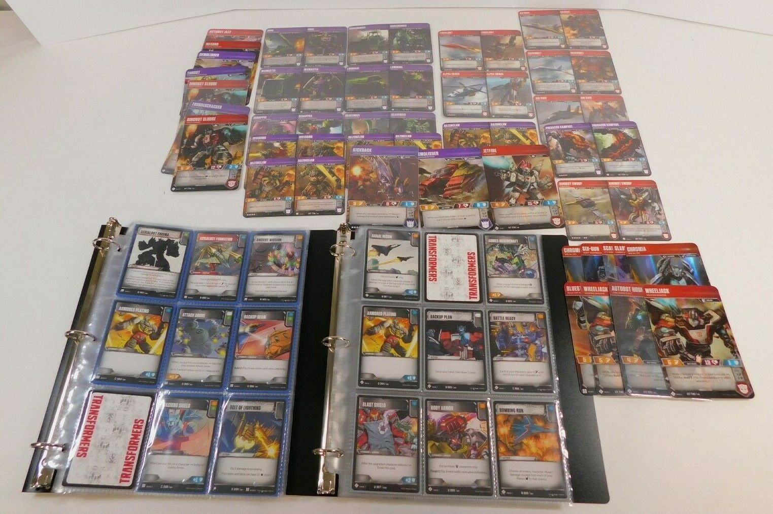 TRANSFORMERS TCG WAVE 1 AND WAVE 2 UNCOMMONS, RARES, SUPERION, DEVASTATOR
