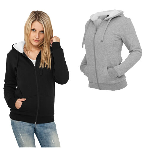 URBAN CLASSICS Ladies Inverno Zip Hoody tb396 Sweatjacke Donna Giacca