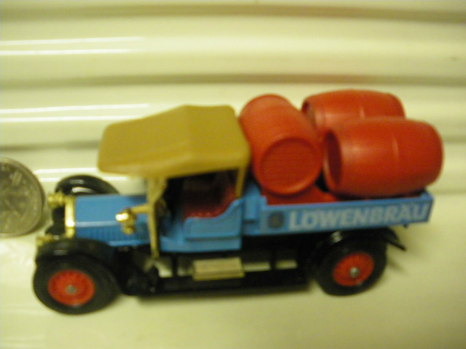 MATCHBOX MODELS OF OF OF YESTERYEAR Y26 LOWENBRAU LT RED BARRELS 1918 CROSSLEY NU BXD dc5061