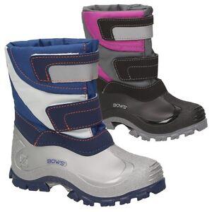 BOWS-Zapatos-Mika-Botas-De-Invierno-Ninos-Ninas-Nieve-Unisex-Forro-Interior
