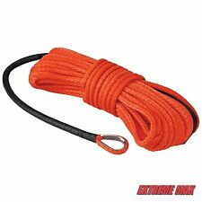 "Extreme Max ""The Devil's Hair"" Synthetic ATV / UTV Winch Rope - Orange"