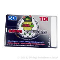 8gb Novelty Credit Card Thumb Drive Scuba Diving Dive