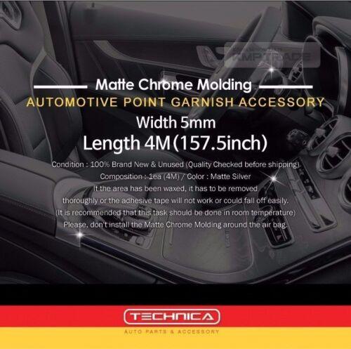Interior Matte Chrome Point Molding Accessory for HYUNDAI 2008-2018 i10