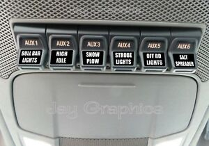 Custom Upfitter Switch Decals / Labels Ford F250 F350 ...