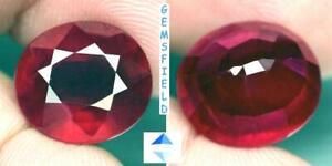 TOP-SI-9-83cts-RUBIS-de-MADAGASCAR-lumineux-rouge-rose-poli-AAA