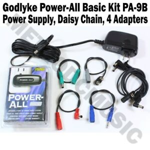 Godlyke-Power-All-9V-BASIC-KIT-PA-9B-PSU-Effects-Pedal-Power-Adapter-Daisy-Chain