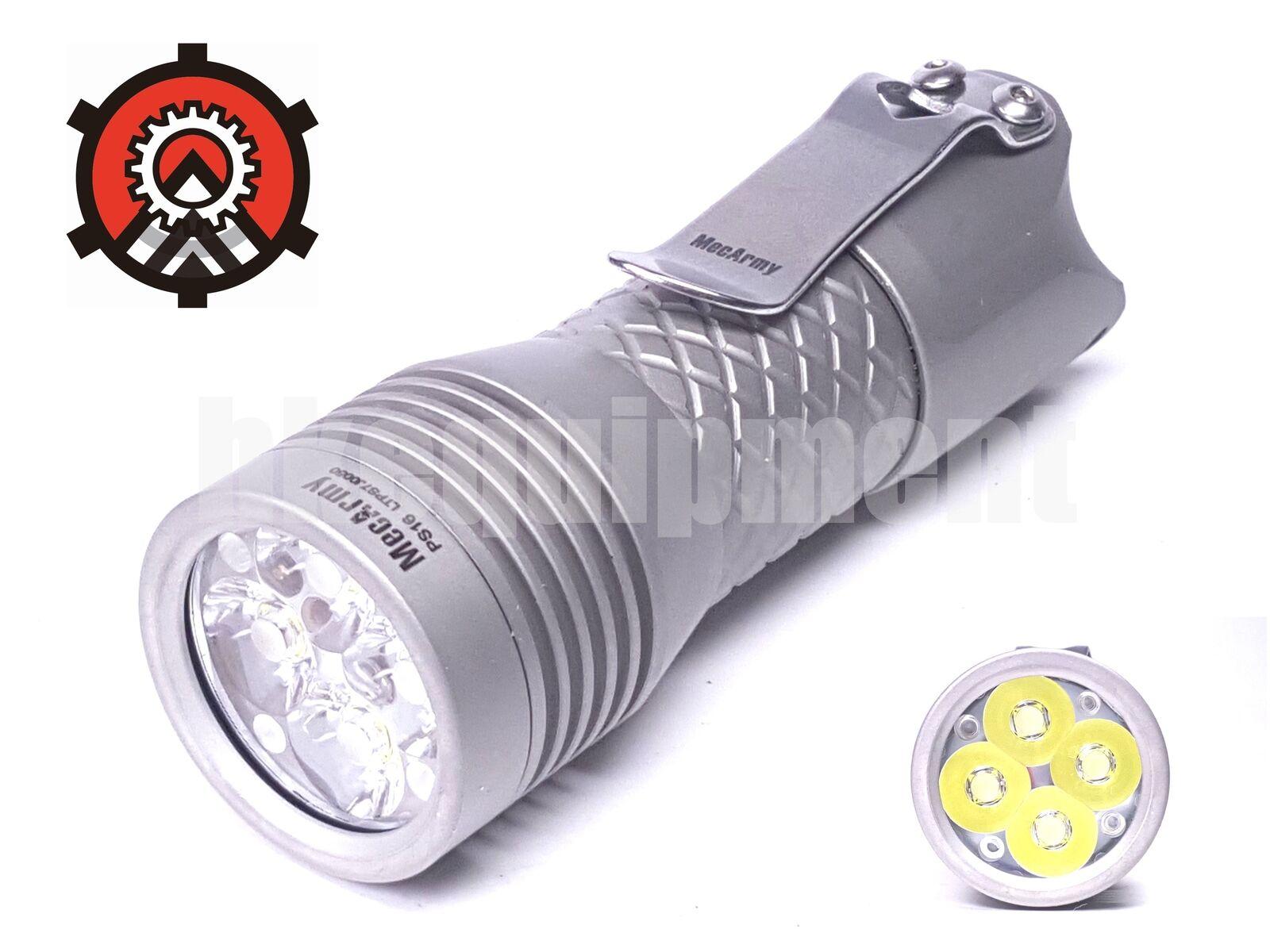 Mecarmy PS16 4x Cree XP-G3 S5 2000lm Flashlight Matt+USB Rechargeable Battery