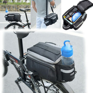 Helpful Cycling Bicycle Bike Pannier Rear Seat Bag Rack Trunk Shoulder Handbag Storage Moderate Price Cycling