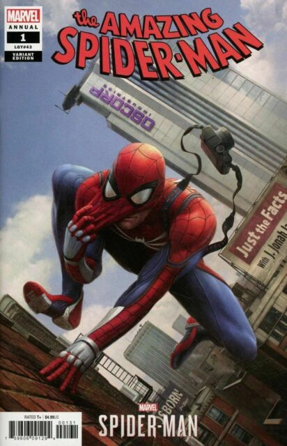 Spider-man Annual #1 Marvel Comic 2018 Chan Ps4 Video Game Variant Cover