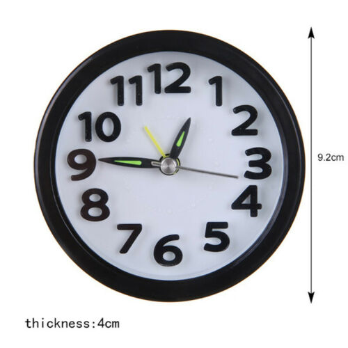 Small Portable Silent Night Analogue Alarm Clock Quartz Snooze Dorm Alarm Clock