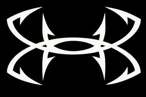 Under armour fishing hooks car suv truck vinyl die cut for Under armour fish hook