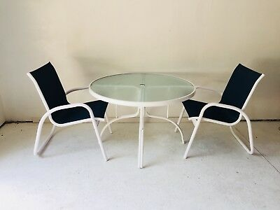 Telescope Patio Furniture Excellent White Navy Mesh Table 2