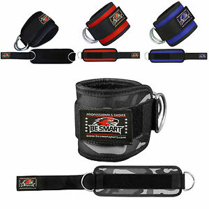 Weight-Lifting-Ankle-Straps-D-Ring-Cable-Attachment-Straps-Fitness-Exercise-Cuff