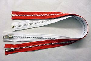 """Metal YKK Zip Zipper 22/""""// 56cm Open End Red"""