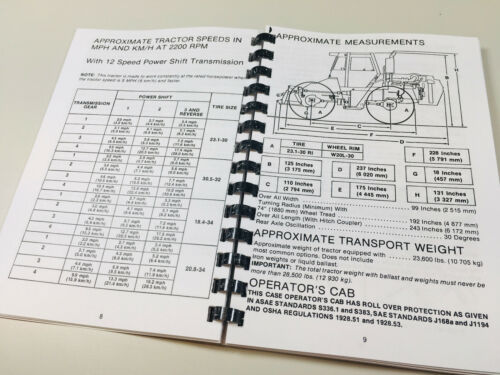 CASE 4890 TRACTOR OPERATORS OWNERS MANUAL