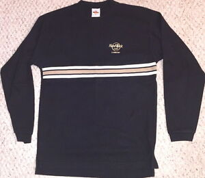 Hard-Rock-Cafe-LONDON-Long-Sleeves-Black-SHIRT-MENS-Size-MEDIUM-Combed-Cotton