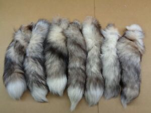 #1 XXL Tanned Red Frost Fox Tails/Crafts/R<wbr/>eal USA Fur Tail/Harley parts/Purse